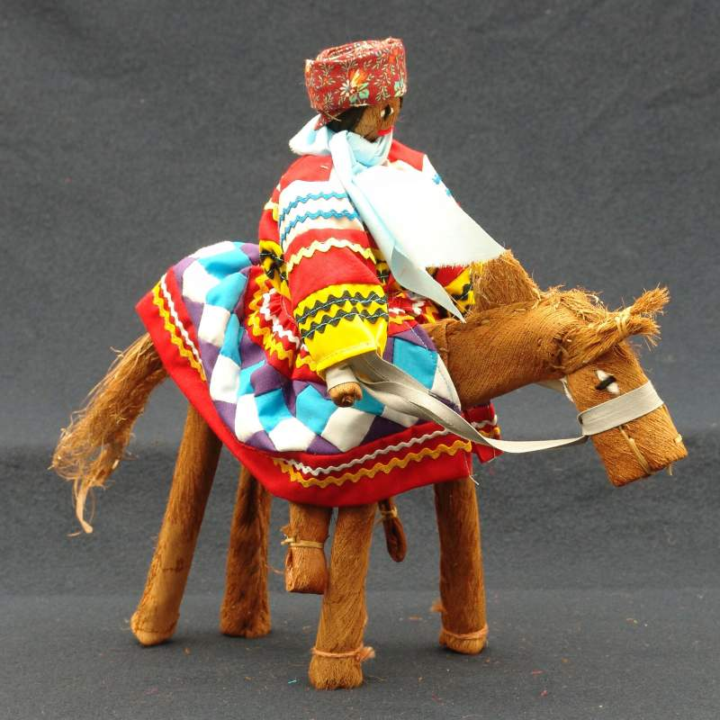 Seminole Doll Man on Horse