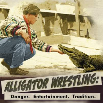 Alligator Wrestling Exhibit square